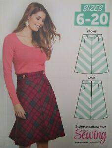 Love Sewing Lorna Skirt Chevron Front Skirt Sewing Pattern Sizes 6-20 Uncut