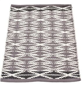 2x3 Ft Rug Woven Rugs Reversible Rugs Living Room Mats Grey & White Wool Carpets