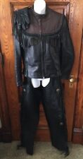 Rare HARLEY-DAVIDSON WILLIE G Fringed Leather Motorcycle JACKET, CHAPS & GLOVES