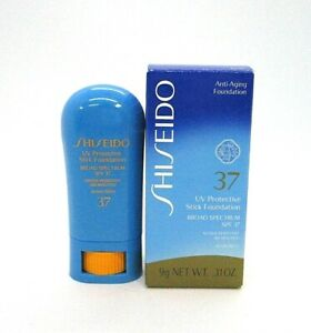 Shiseido UV Protective Stick Foundation Broad Spectrum Spf 37 ~ Beige ~ .31 oz ~