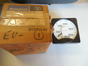 NEW WESTINGHOUSE A-C AMPERES METER 291B461A35 TYPE KA-241 0-5000 AMP