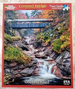 "White Mountain COVERED BRIDGE #985s Jigsaw Puzzle 1000 pc 24x30"" 2013 photograph"