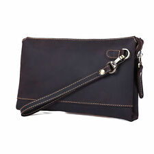 Vintage Men's Genuine Leather Clutch Bag Wallet Phone Cash Card Pouch Shopping