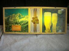 New listing Vintage Coors Lighted Back Bar Sign Light 1979
