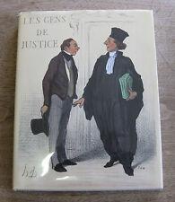 LES GENS DE JUSTICE by Daumier - Vilo Editeur - plates - HCDJ 1st 1966 - art LAW