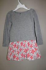 Tea Collection Mikko Floral Bubble Dress Gray Size 3 3T EUC
