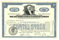 [B67897] 1953 STOCK CERTIFICATE 100 shares THE NEW YORK CENTRAL RAILROAD COMPANY