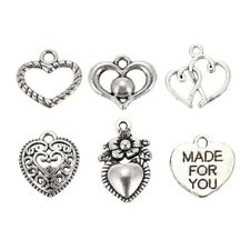 30pcs Mixed style Heart Pendants Charms Findings - Jewellery Making Finding E4L9