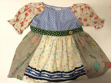 Matilda Jane Sz 8 Girls Dress Peasant Flowers Kites Stars Cars