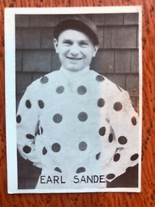 Earl Sande Jockey Tobacco Card 1920s/30s Tiedemanns Tobak Horse Riding Very Rare