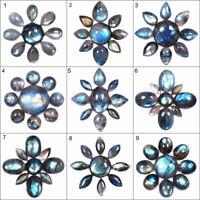 9 Pcs Natural Labradorite Flashy Loose Cabochon Gemstones Unique Wholesale Lots