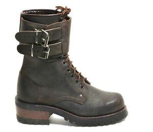 495 Stiefel Leder Schnürschuhe Worker Desert Ankle Schnalle Trapper Hardark 39