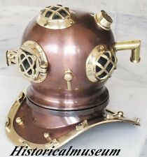 Antique brass Copper Scuba DYTVB22Vini Steel Diving Divers Helmet Mark V US Navy