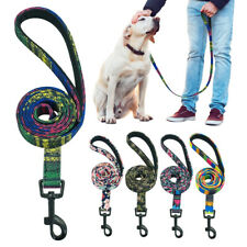 4ft Nylon Dog Leash with Soft Padded Handle Lead for Medium Large Dogs Walking