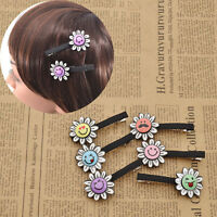 2pcs Kawaii Sunflower Barrette Alligator Hairpins Hair Clip Girls Hair Accessory