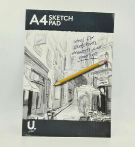 Black A4 Artists Sketch Pad Drawing Pads Artist Doodle Blank Book 100 Page Book