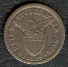 1929-M US Administration Philippines 10 CENTAVOS Silver Coin - Stock #2