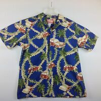 Vintage RJC Hawaiian Camp Shirt Men Large Cars