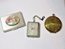LOT 1 OF 2 VINTAGE COMPACT LOT OF THREE AS IS BM & CO DECO SEE PICTURES