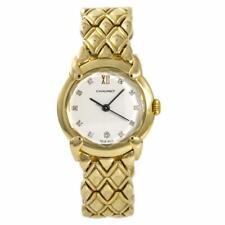 Chaumet Elysees Vintage Womens Quartz Watch 18K Yellow Gold White Dial 25mm