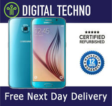 Unlocked Samsung Galaxy S6 Blue 32GB - SIM Free Android Phone + 1 Year Warranty