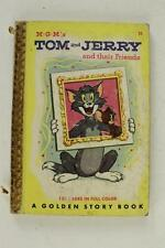 Vintage Cartoon Book MGM Tom & Jerry Golden Story Book 1950 120 Full Color Pages