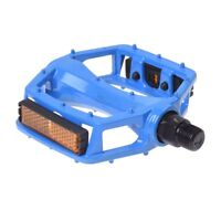 2 Pcs Nonslip Blue Aluminum Alloy Pedals for MTB Bicycle Bike G4G7