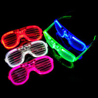 Flashing LED Glasses Light Up Slotted Party Glow with Battery Pack Remote