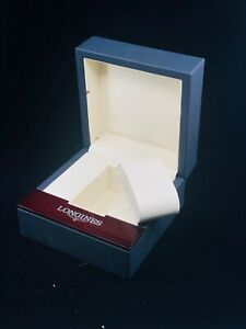 "Authentic Longines Watch Box w. booklet & outer case | Blue | 5.25""x5.25""x3.25"""