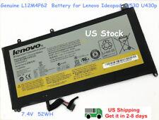 New L12M4P62 L12L4P62 Genuine Battery Lenovo Ideapad U430 U530 U430p U430t U530P