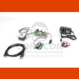 CNC USB 1D Schrittmotor Steuerung Controller Set Nema 17 1,7A mit Software LaGER