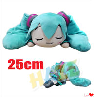 Anime Hatsune Miku Sleeping Drooling Soft  Stuffed Doll  Plush Toy