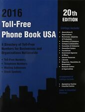 Toll-Free Phone Book USA 2016: A Directory of Toll