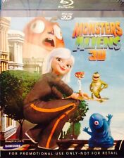 Monsters VS Aliens' 3D Bluray . Also Plays 2D, Brand New . ORIGINAL.