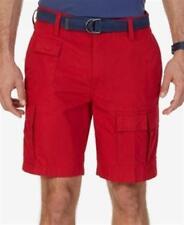 Nautica 9 Inch Navigator Cargo Shorts Nautical Red Mens Size 38 New