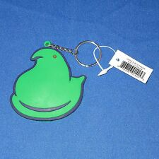Peeps - Green Chick w Blue Trim - Rubber Keychain - Easter - New