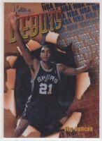1997-98 Tim Duncan Topps Finest Basketball Bronze Rookie Card # 101 Spurs HOF