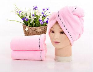 1pc Microfiber Hair Towel Super Fast Drying Hair Turban Hair Wrap Hat Cap