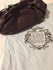 JUICY COUTURE Fluff Bag In Chocolate Pebble Leather With Charms And Dust bag!!