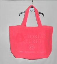 Victoria's Secret Limited Edition Terry Weekender Beach Bag Tote Neon Pink NWT