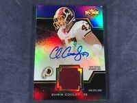 I4-40 FOOTBALL CARD - CHRIS COOLEY - AUTOGRAPHED - JERSEY SWATCH - 2011 TOPPS