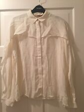 Ivory blouse shirt size 12 line dancing country & western cowgirl fancy dress