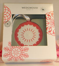 New Wedgwood Red / White Jaspeware Christmas Red NeoClassical Disc Ornament Tree