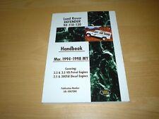 LAND Rover Defender 300 TDI 90 110 130 NOVANTA OneTen Manuale Proprietari Manuale Libro
