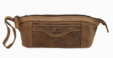Starhide Genuine Distressed Hunter Real Leather Pencil Case Cosmetic Pouch #555