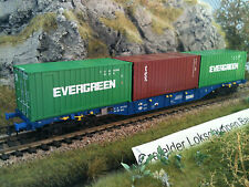 Roco (76919) Vagone per container MAV EVERGREEN /tex Swap asse opzionale Märklin