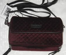 NWT VERA BRADLEY CHOCOLATE RAISIN RFID ALL IN ONE CROSSBODY WALLET, RETAILS $88
