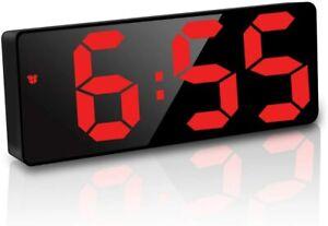 Sveglia digitale con ampio display LED, Funzione snooze, Alimentato a Batteria