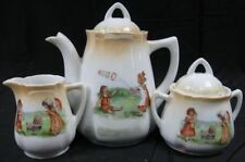 NICE! Greman 1890's Victorian Doll Childs Tea Set For 6~21 Pieces Kids Play Time