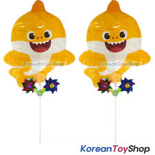 PINKFONG Yellow Baby Shark Balloon 2 pcs Set w/ Pinwheel Birthday Party Supplies